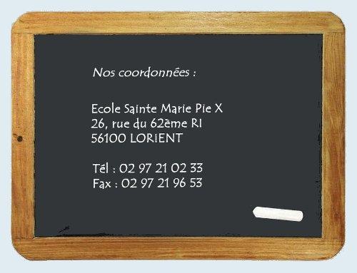 Contact Ecole Ste Marie Pie X